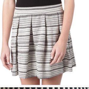 Skater Jacquard Pleated Skirt